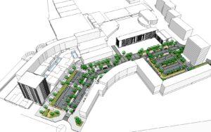 Visuel d'ensemble du projet d'aménagement Berlioz Püttlingen
